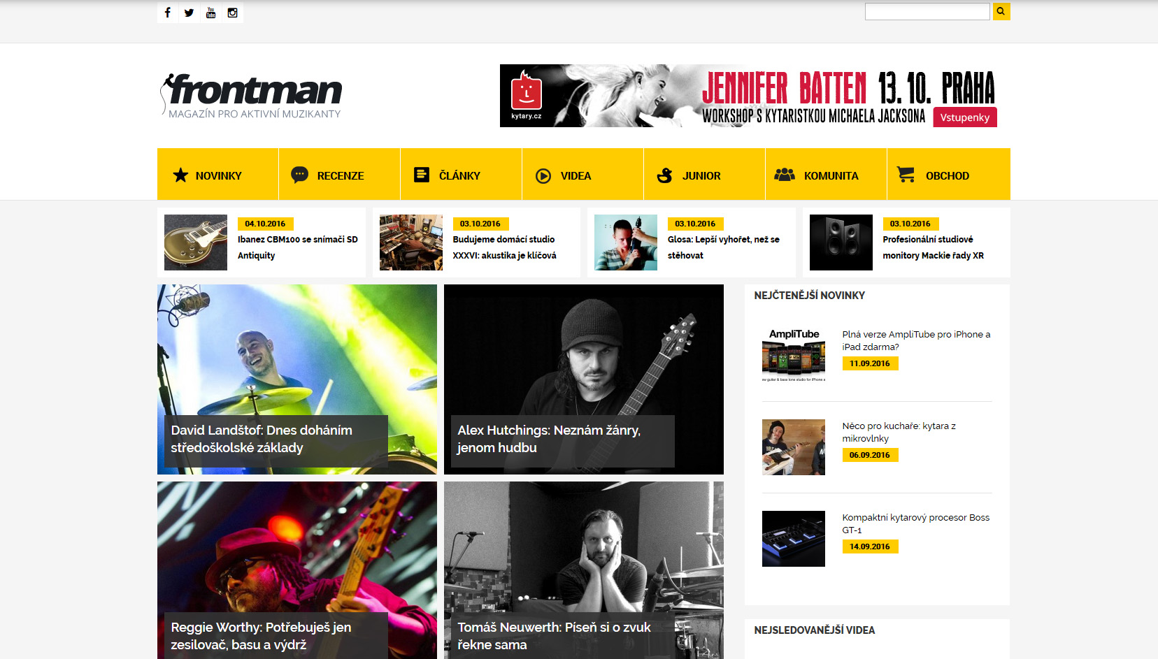 Hudební magazín Frontman